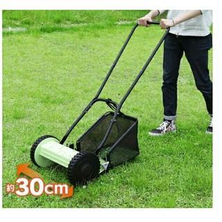 アイリスプラザ 芝刈り機 手動式 MLM-300  芝刈り機 グリーン(プランター)