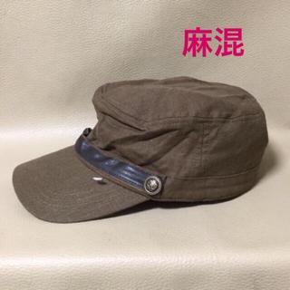 111【新品】ワークキャップ カーキ 57.5㎝(キャスケット)