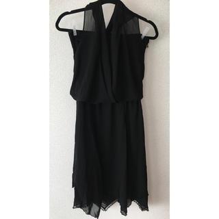 ロートレアモン(LAUTREAMONT)のロートレアモン ブラック ホルターネックドレス サイズ1(ミディアムドレス)