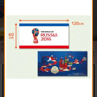 2018 FIFA WORLD CUP RUSSIA ブランケット 青(記念品/関連グッズ)