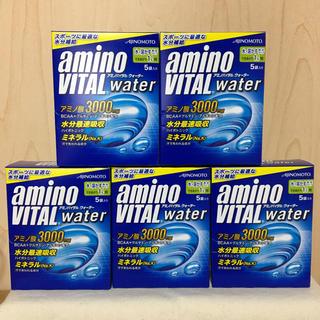 アジノモト(味の素)のアミノバイタルウォーター 5袋×5箱 アミノバイタル(トレーニング用品)