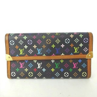 ルイヴィトン(LOUIS VUITTON)のルイヴィトンマルチカラーノアール黒 長財布(財布)