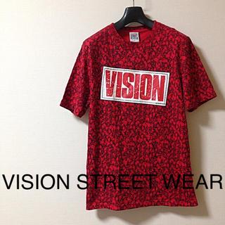 ヴィジョン ストリート ウェア(VISION STREET WEAR)の【美品】VISION STREET WEAR ドクロ総柄Tシャツ(Tシャツ/カットソー(半袖/袖なし))