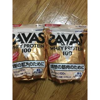 ザバス(SAVAS)の2袋!ザバスホエイプロテイン100香るミルク風味(プロテイン)