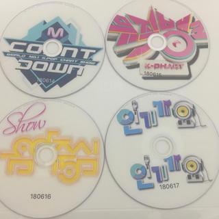 K-pop番組 4枚セット(180614~180617放送分)DVD(K-POP/アジア)