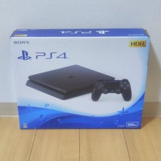 プレイステーション4(PlayStation4)の【新品】PS4 ジェット・ブラック 500GB(家庭用ゲーム本体)