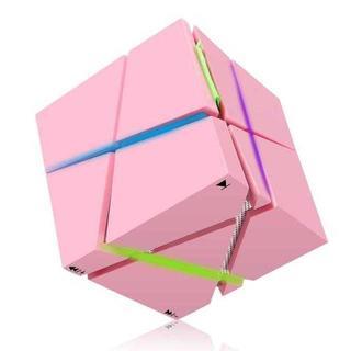 【大好評♪】Bluetooth キューブスピーカー ピンク(スピーカー)