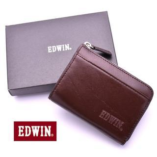 エドウィン(EDWIN)のエドウィン 小銭入れ メンズ コインケース EDWIN 本革 レザー ファスナー(コインケース/小銭入れ)