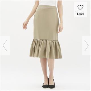 ジーユー(GU)のGU ペプラムタイトスカート(ひざ丈スカート)