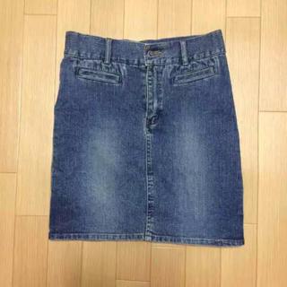 22 膝丈 デニムスカート(ひざ丈スカート)