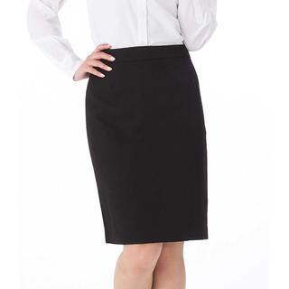 15. タイトスカート 黒 ブラックスカート リクルート ストレッチツイル XL(ひざ丈スカート)