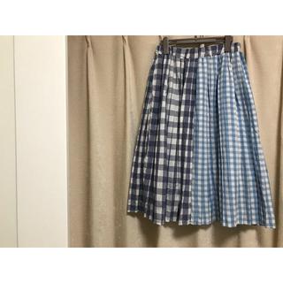 メルロー(merlot)のチェックスカート(ロングスカート)