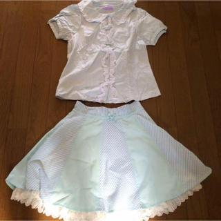 kokokim 半袖ブラウス&スカート(ミニスカート)