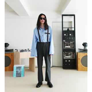 サンシー(SUNSEA)のSUMMER WOOL TEKETEKE PANTS(SNM-BLUE)BK 2(スラックス)