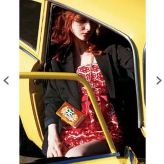 リリーブラウン(Lily Brown)の❤️完売品❤️ リリーブラウン お花レーススカート お花スカート 赤 今季 ♡(ひざ丈スカート)