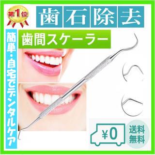 【良品】歯垢取り  自宅で簡単デンタルケア  丈夫なステンレス製 No.17(口臭防止/エチケット用品)