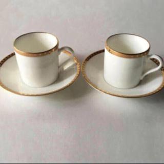 ティファニー(Tiffany & Co.)の新品未使用 ティファニー  ゴールドバンド デミタスカップ&ソーサー(グラス/カップ)