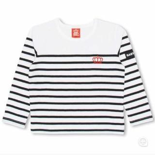 ベビードール(BABYDOLL)のBABYDOLL新品ボーダーロンT ブラック(Tシャツ/カットソー)
