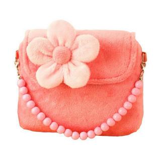女の子 キッズ用 花柄 ハンドバッグ! ショルダーバック ( ピンク )