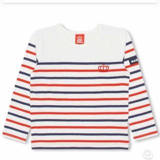 ベビードール(BABYDOLL)のBABYDOLL新品ボーダーロンT レッド(Tシャツ/カットソー)