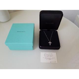 ティファニー(Tiffany & Co.)のティファニー クロスペンダント スモール ダイヤ(ネックレス)