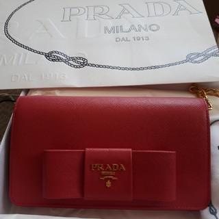 PRADA - PRADA プラダ チェーン ショルダーバッグ ウォレット 長財布