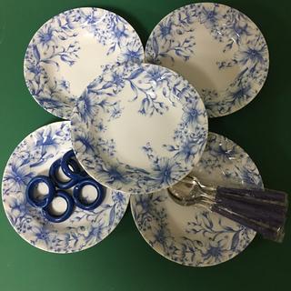 トノ(TONO)の☆お値引きしました❣️TONO  カレー&スープ皿 5枚  スプーン5個付き(食器)