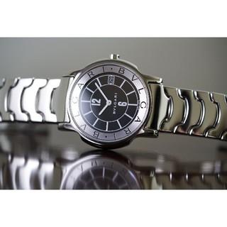 ブルガリ(BVLGARI)の美品 ブルガリ ソロテンポ ST35S ブラック メンズ Bvlgari (腕時計(アナログ))