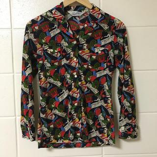 アーノルドパーマー(Arnold Palmer)のビンテージ アーノルドパーマー ポリシャツ 80s 総柄(シャツ/ブラウス(長袖/七分))