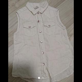 ライトオン(Right-on)のライトオン女の子シャツノースリーブ120(Tシャツ/カットソー)