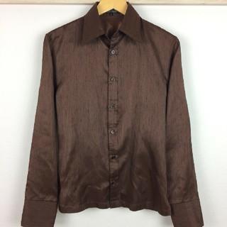 ゴーサンゴーイチプールオム(5351 POUR LES HOMMES)の美品 5351プールオム 長袖シャツ ブラウン サイズ2(シャツ)