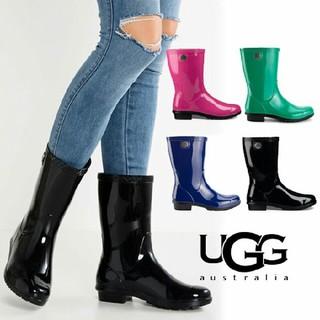 アグ(UGG)の【新品】UGG レインブーツ ブラック(レインブーツ/長靴)