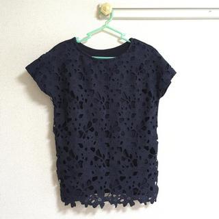 ライトオン(Right-on)の美品☆Right-on花柄トップス(Tシャツ(半袖/袖なし))
