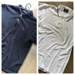 フレッドペリー(FRED PERRY)のFRED PERRY フレッドペリー ポロシャツ 黒白二枚セット 美品(ポロシャツ)