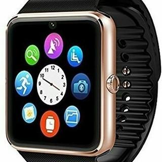 ゴールド スマートウォッチ Bluetooth ☆ 、(腕時計(デジタル))