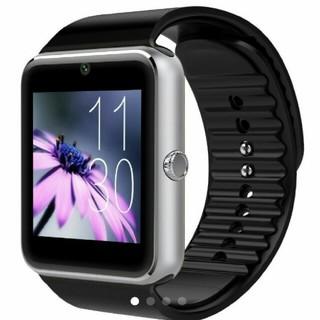 黒銀 スマートウォッチ Bluetooth ☆。(腕時計(デジタル))
