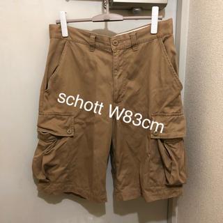 ショット(schott)のショットschott カーゴハーフパンツ ショートパンツ カーキ色 W83cm(ショートパンツ)