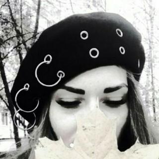ブラック ベレー帽 帽子 リング ピアス ノーブランド(ハンチング/ベレー帽)