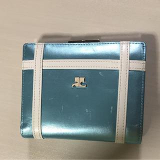 クレージュ(Courreges)のクレージュ がま口水色財布(財布)