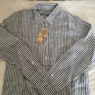 ムジルシリョウヒン(MUJI (無印良品))の無印良品 ストライプリネンシャツ(シャツ/ブラウス(長袖/七分))
