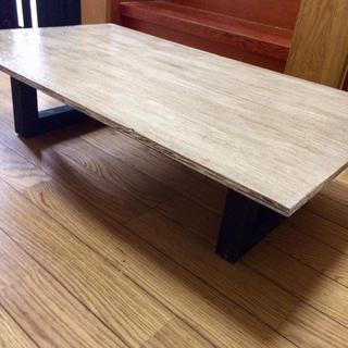大特価 ヴィンテージ調 木製ローテーブル (ローテーブル)