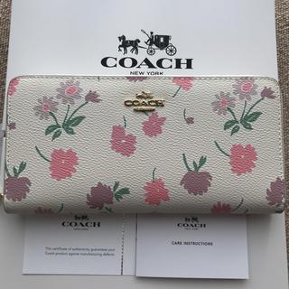 コーチ(COACH)のコーチ 長財布 COACH ラウンドファスナー デイジー花柄(財布)
