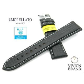 モレラート(MORELLATO)の◆新品◆ モレラート 20mm バイキング グレー ブラック 時計 ベルト(ラバーベルト)