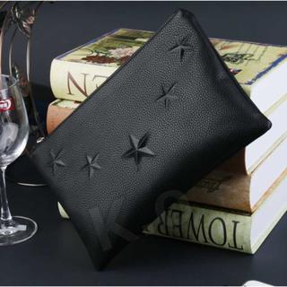 クラッチバッグ メンズ レザー 新品 収納 財布 鞄 カバン 小物入れ ブラック(ビジネスバッグ)