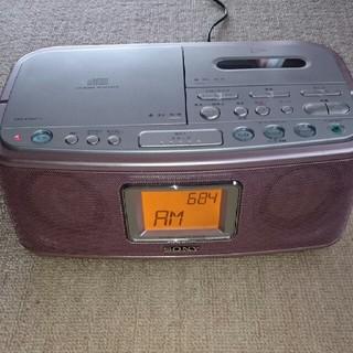 ソニー(SONY)のSONY CDラジカセ CFD-E500TV 貴重なピンク(ラジオ)
