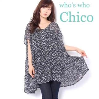フーズフーチコ(who's who Chico)の♡フーズフーチコ 小花柄 チュニック♡(ミニワンピース)