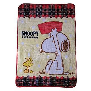 【SNOOPY】 ハーフケットA スヌーピー ひざ掛け ハーフケット 毛布(毛布)