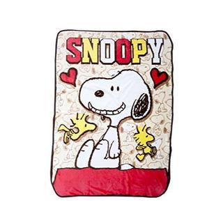 【SNOOPY】 ハーフケットD スヌーピー ひざ掛け ハーフケット 毛布(毛布)
