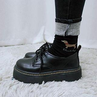 値下げ 厚底靴 皮靴 パンプス 履きやすい フラット(ローファー/革靴)
