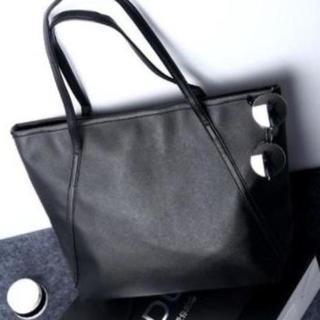 トートバッグ 手提げバッグ メンズ レディース 黒色 ブラック(トートバッグ)